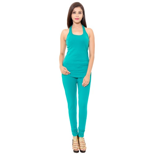 Turquoise Chudidar Cotton Lycra Leggings