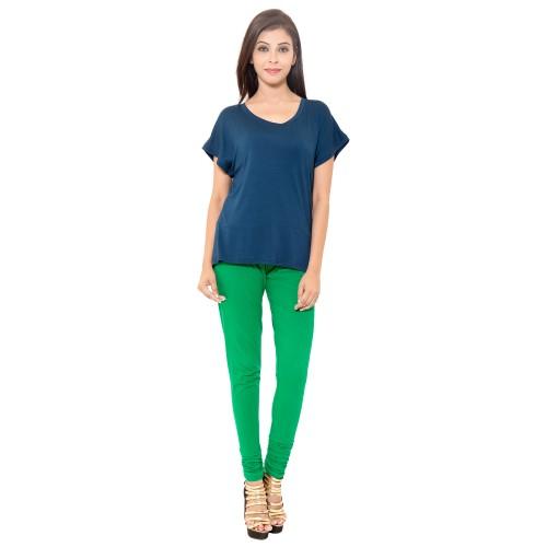 Parrot Green Colour Chudidar Cotton Lycra Leggings