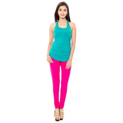 Pink Colour Chudidar Cotton Lycra Leggings