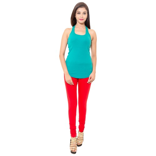 Red Colour Chudidar Cotton Lycra Leggings
