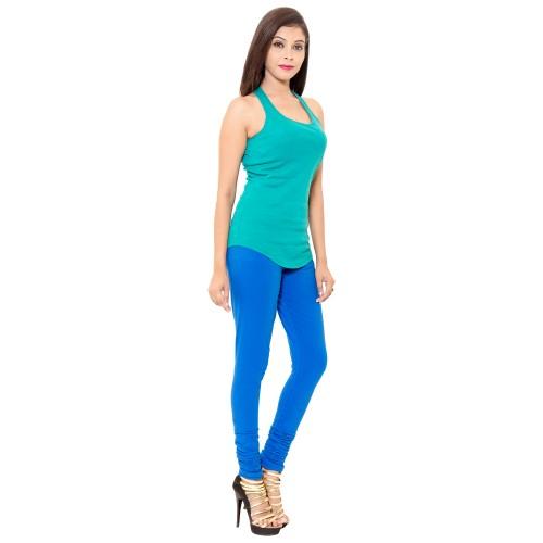 Royal Blue Colour Chudidar Cotton Lycra Leggings