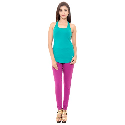 Wine Colour Chudidar Cotton Lycra Leggings